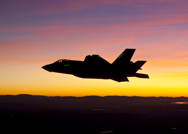 The F-35 Lightning II Joint Strike Fighter aircraft. (Courtesy photo by Tom Reynolds, US Air Force, Creative Commons License)