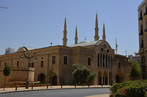 cathedral and a mosque in Beirut. (Photo by objectivised, Creative Commons License)