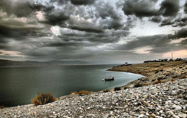 Dead Sea is shrinking at an alarming pace. (Photo by josef.stuefer, Creative Commons License)