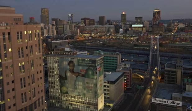 The city of Johannesburg. (Photo by Greg Marinovich via Daily Maverick)