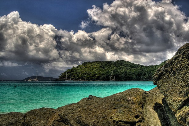 A view of St John's beach in US Virgin Island. (Photo by Jason St Peter, Creative Commons License)