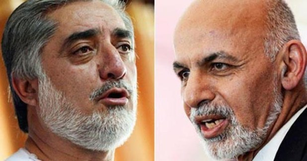 Dr Abdullah Abdullah (left) and Dr Ashraf Ghani (right)