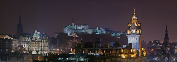 A panoramic view of Scotland's capital city of Edinburgh. (Photo by Alexandre Duret-Lutz, Creative Commons License)