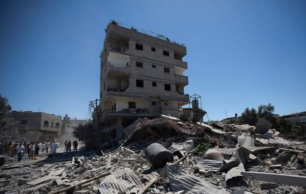 The ongoing airstrikes have destroyed everything from family's homes to fishermen's boats, water systems to health centers. (Photo by Oxfam International, Creative Commons License)