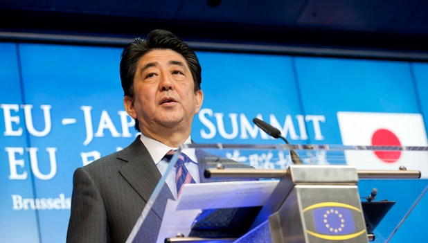Japanese Prime Minister Shinzo Abe. (Photo by President of the European Commission, Creative Commons License)