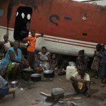 Central African refugees take shelter in an abandoned plane at the country's airport, which has become a sprawling refugee camp. (Photo: UN Photo Unit / Flickr)