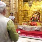 Prime Minister Narendra Modi performs puja at the Somnath Mandir. (Photo via Narendra Modi, Creative Commons License)