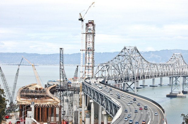 A 2011 photo of the Bay Bridge in San Francisco. (Photo by Todd Lappin, Creative Commons License)