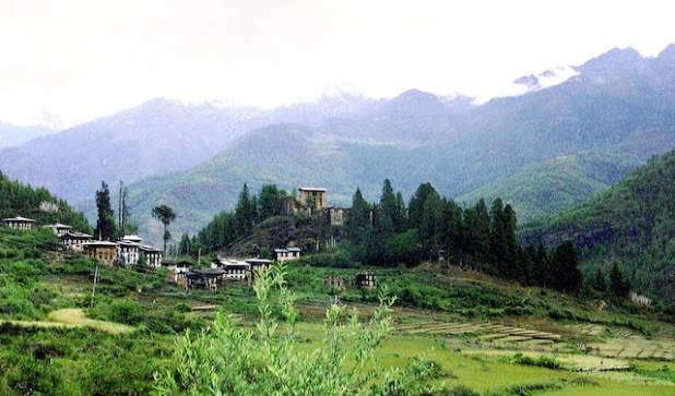 The town of Paro in Bhutan. (Photo by Rita Willaert, Creative Commons License)