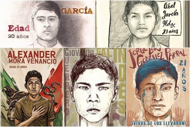 (Image: Proyecto Diez Periodismo con Memoria, via Ilustradores con Ayotzinapa)