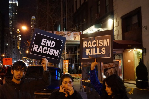 A protest against the Ferguson incident in New York City on Nov. 25th. (Photo by The All-Nite Images, Creative Commons License)