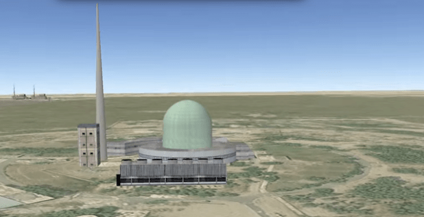 An artist's image of the Khushab nuclear facility released by the Nuclear Threat Initiative. (Image from NTI video)