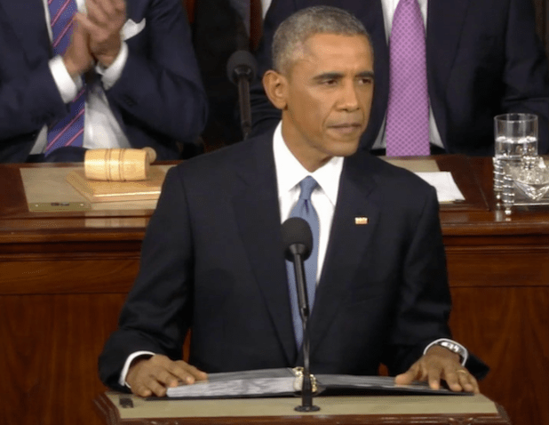 President Obama delivering his sixth State of the Union address on Jan 21st.