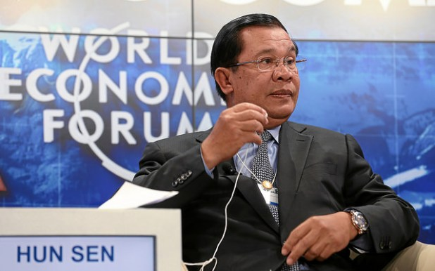 Hun Sen is ranked as the region's longest-serving prime minister. (Photo by Monika Flueckiger via World Economic Forum, Creative Commons License)