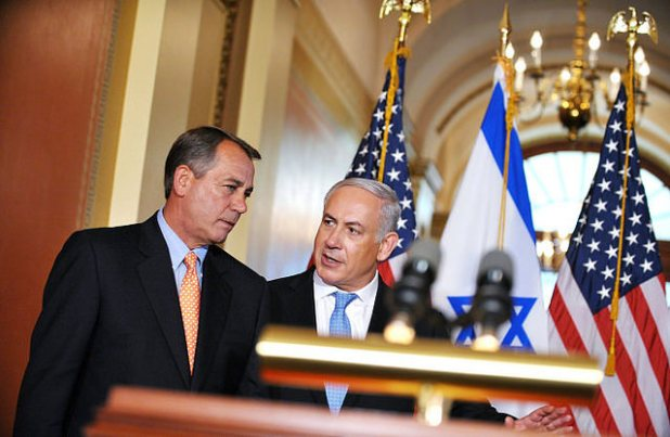 Speaker John Boehner with Israeli Prime Minister Benjamin Netanyahu  after a meeting in Washington DC. (Photo by Peter Stevens, Creative Commons License)