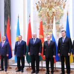 Participants in the Supreme Eurasian Economic Council meeting. (Photo courtesy Presidential Press and Information Office, Kremlin)