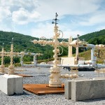 Shale gas well, Pennsylvania USA. (Photo by Image Library, Creative Commons License)
