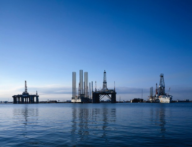 Oil rigs in Galveston, Texas. (Photo by IIP Photo Archive, Creative Commons License)