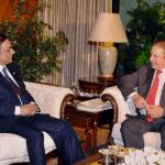Prime Minister Nawaz Sharif has often been accused of protecting Asif Ali Zardari. (Photo courtesy Online)