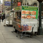 Halal carts have seen a mushroom growth in New York City. (Photo by Tom Simpson, Creative Commons License)