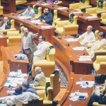 Chief Minister of Pakistan's Sindh province, Syed Qaim Ali Shah is addressing the provincial assembly.