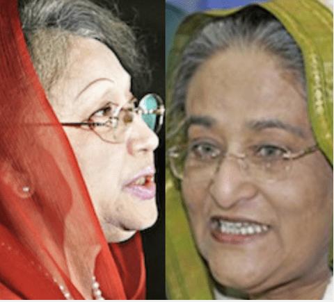 Bangladesh's feuding Begums -- Khalida Zia and Prime Minister Hasina Wajid.