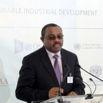 Ethiopian Prime Minister Hailemariam Desalegn at NY event on industrialization in Africa in September 2015. (Photo by UNDO, Creative Commons License)