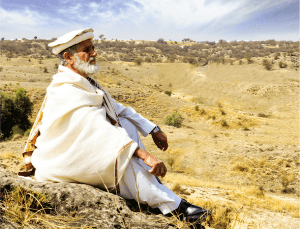 An elder from Pakistan's Federally Administered Tribal Areas in the tribal heartland.