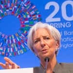 International Monetary Fund Managing Director Christine Lagarde holds a press conference April 16, 2015 at the IMF Headquarters in Washington, DC. (IMF Staff Photo/Stephen Jaffe, Creative Commons License)