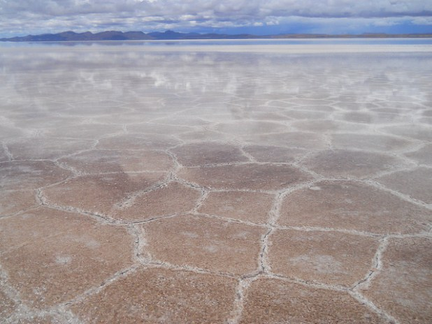Salt flats in Bolivia. (Photo by psyberartist, Creative Commons License)