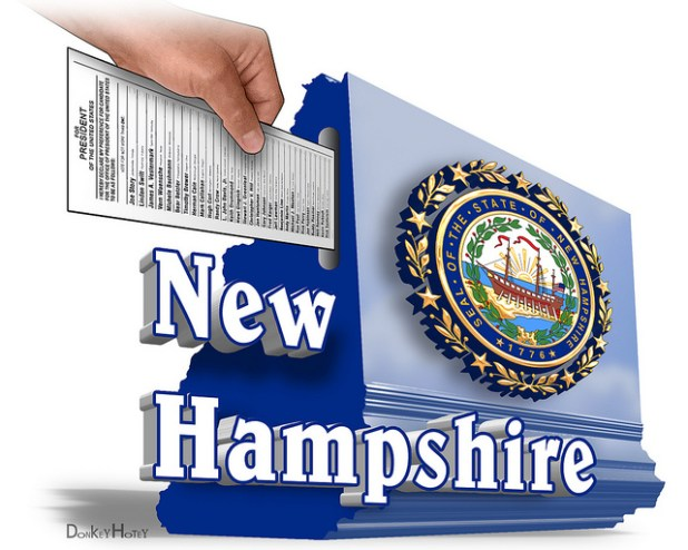 New Hampshire Primary - Illustration. (Photo by DonkeyHotey, Creative Commons License)