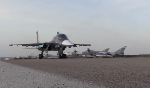 Russia has used its most modern weapons during its air campaign in Syria. (Photo via video stream)