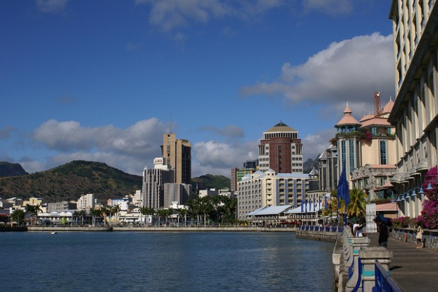 Caudan waterfront in Port Louis, Mauritius. (Photo by B.navez | Wikimedia Commons, Creative Commons License)