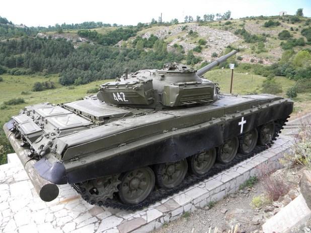 A tank on display at Shushi, Nagorno-Karabakh. (Photo by Timon91, Creative Commons License)