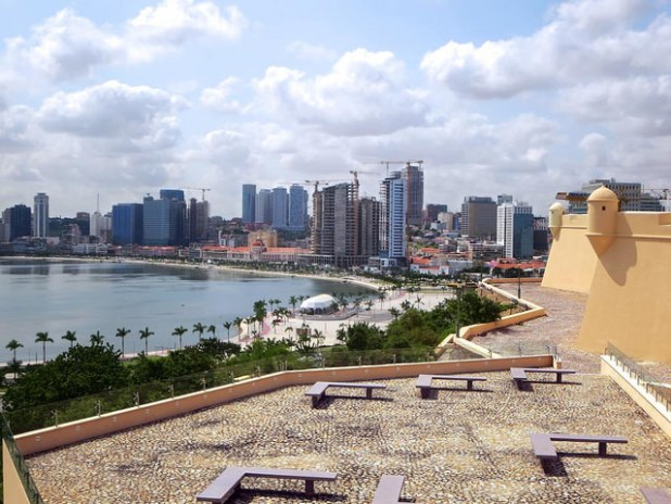 A view of Luanda's skyline. (Photo by David Stanley, Creative Commons License)