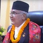 Prime Minister K.P. Sharma Oli. (Photo via video stream)