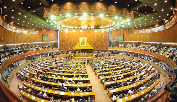 An inside view of Pakistan's National Assembly, which has repeatedly been criticized by Pakistani public for serving no more than an elite debating club.