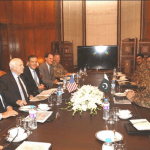 Senator John McCain and other members of Congressional delegation meeting Pakistan's Chief of Army Staff General Raheel Sharif and top military leaders during a visit to the South Asian nation on July 2 in Rawalpindi. (Photo courtesy ISPR)