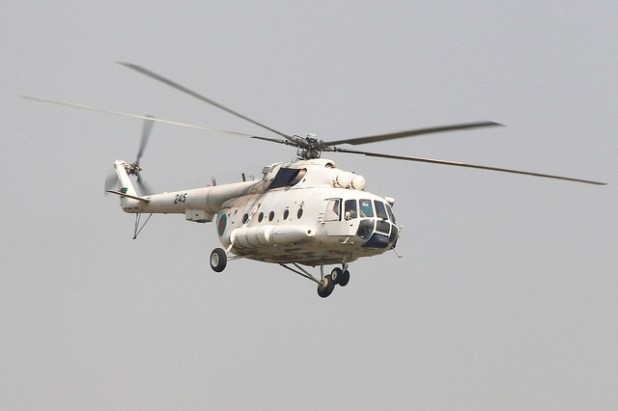 The MI-17 helicopter that crash-landed in Afghanistan was identical to the one in the photo. (Photo by Faisal Akram, Creative Commons License)