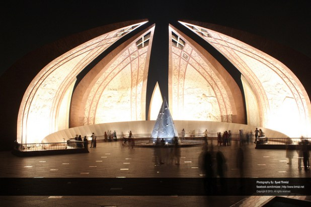Pakistan Monument in Islamabad. (Photo by Syed Tirmizi, Creative Commons License)