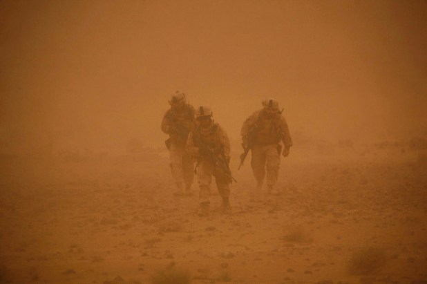 Marines, Afghan National Police Stay Vigilant in Southern Afghanistan. (Photo by DVIDSHUB, Creative Commons License)