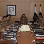 Pakistan's Chief of Army Staff General Raheel Sharif presiding over the Corp Commanders meeting in Rawalpindi. (Photo via ISPR)