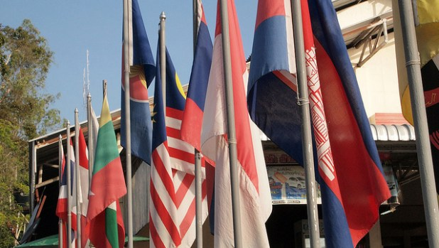 ASEAN nations flags. (Photo by Prachatai, CC license)