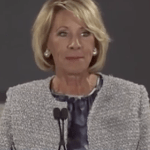 Education Secretary-designate Betsy DeVos speaks in Grand Rapids, Michigan. (Photo via video stream)