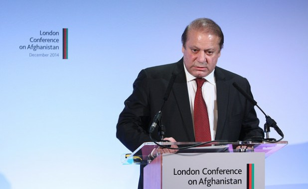 Prime Minister Nawaz Sharif is under growing pressure from the opposition to resign. (Photo by Patrick Tsui/FCO, Creative Commons License)