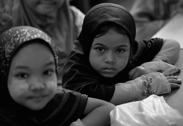 Hashimiah Orphans Madrasah at Pasar borong Selayang, housing Rohingya Muslim girls. (Photo by Firdaus Latif, Wikimedia Commons)