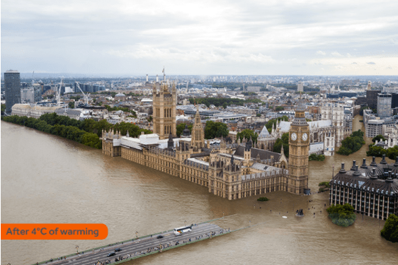 City of London. (Image Via Climate Central)