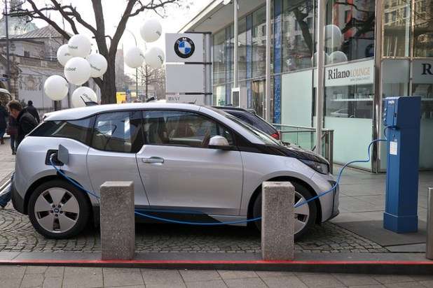 BMW 13 electric car. (photo by Kārlis Dambrāns, CC license)