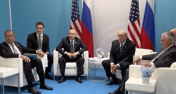 President Trump meeting his Russian counterpart in Hamburg, Germany on the sidelines of G20 summit.