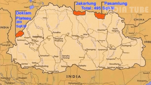 China India map disputed regions